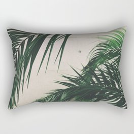 Tropical Palm Leaves Rectangular Pillow