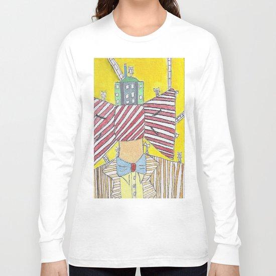 """""""Bows""""  Acrylic On Canvas Long Sleeve T-shirt"""
