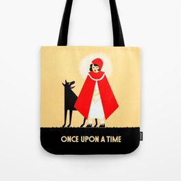 Little Red Riding Hood And The Big Bad Wolf - Classic Fairy Tale Poster Tote Bag