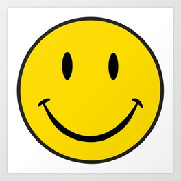 Smiley Happy Face Art Print