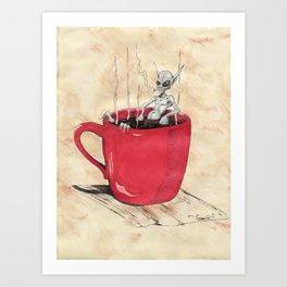 Cluster Coffee Break Art Print