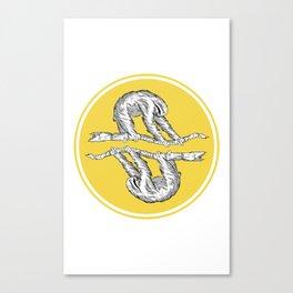 Sloth Sun Canvas Print