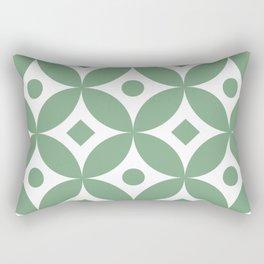 Sage green traditional Japanese circles pattern Rectangular Pillow