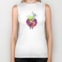 invader zim Biker Tanks featuring Invader Zim Hug by Super Group Hugs