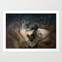 totem Art Prints featuring Totem by Marine Loup