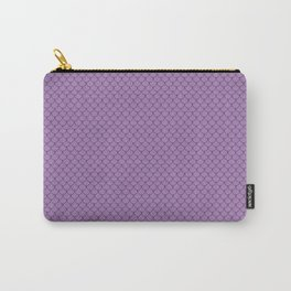 Lavender Purple Scales Pattern Design Carry-All Pouch