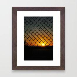 Fence Light Framed Art Print