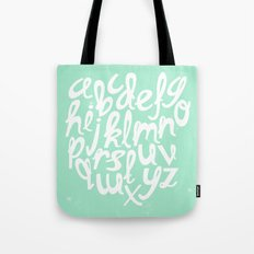 MINT ALPHABET Tote Bag