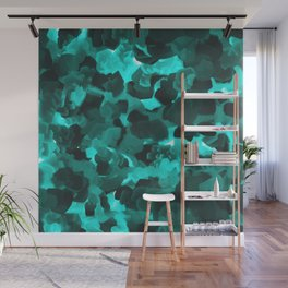 Clear Blue Fluidity Wall Mural