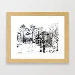 'Old Barn Near Corning' by Ave Hurley Framed Art Print