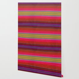 Colorful pink red green geometrical stripes Wallpaper