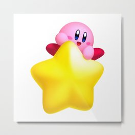 ride on kirby smile Metal Print