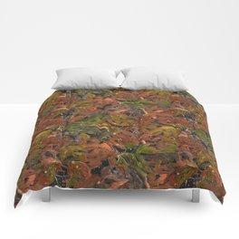 Autumn Foliage in Watercolor. Comforters