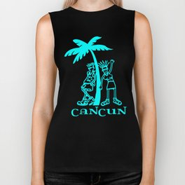Cancun vacation Biker Tank