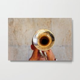 Blowing Jazz On A Rainy Day Metal Print