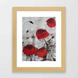 Sloppy Poppy Framed Art Print