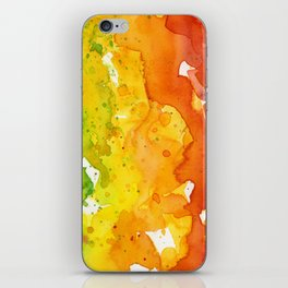 Rainbow Watercolor Texture Abstract Pattern iPhone Skin