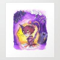 Cheschire cat  Art Print