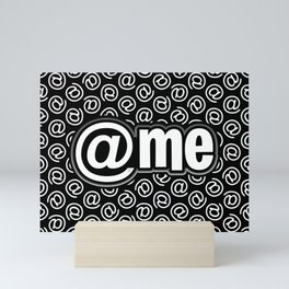 At Me Pattern (white on black version) Mini Art Print