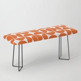 Mid Century Modern Geometric 04 Orange Bench