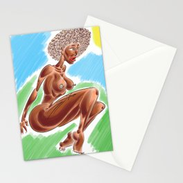 Brown Skin Lady Stationery Cards
