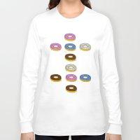 doughnut Long Sleeve T-shirts featuring Doughnut by PSHAWWHO
