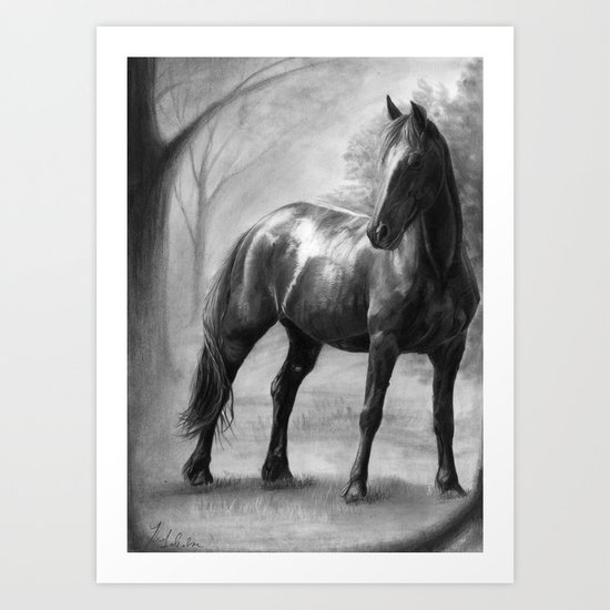 Horse V Art Print