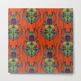 flower beetle orange Metal Print