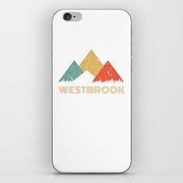 Retro City of Westbrook Mountain Shirt iPhone Skin
