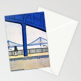 Eitai Bridge And Kiyosu Bridge - Digital Remastered Edition Stationery Cards