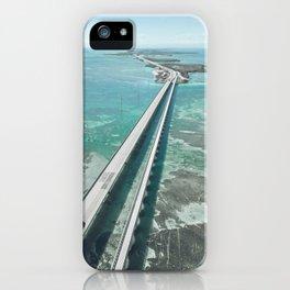 Seven mile bridge in Florida Keys iPhone Case