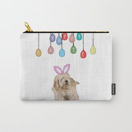 Happy Easter - Fluffy Bunny Carry-All Pouch