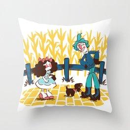 When Dorothy Met The Scarecrow Throw Pillow