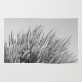 Foxtails on a Hill in Black and White Rug