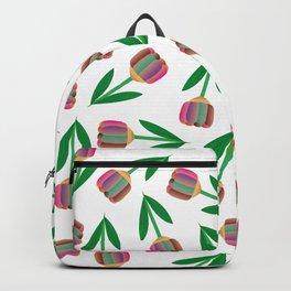 patron de tulipanes coloridos Backpack