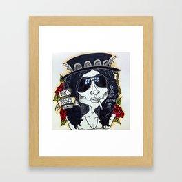 SAUL HUDSON//NOT IN THIS F***ING LIFETIME  Framed Art Print