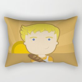 The boy with the bread Rectangular Pillow