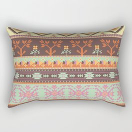 Aztecs pattern with birds and tree Rectangular Pillow
