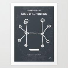 No461 My Good Will Hunting minimal movie poster Art Print