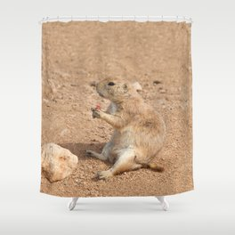 Prairie Dog Snack Time Shower Curtain