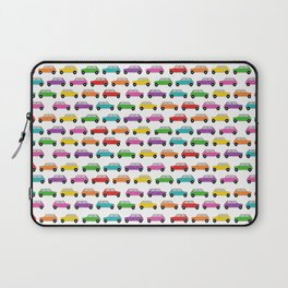 Vintage Mini Cars in rainbow colors Laptop Sleeve