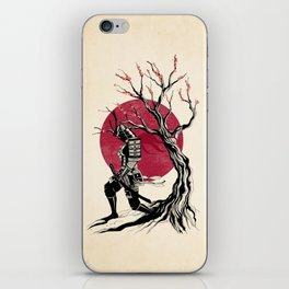 Redhead samurai iPhone Skin