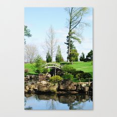 Bridge over untroubled waters Canvas Print