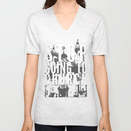 Stop Going to Church...Be. Unisex V-Neck