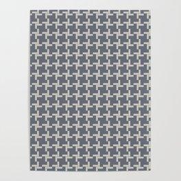 Modern Grey Pin wheel Poster