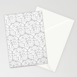 William morris pale grey Stationery Cards