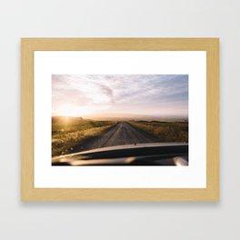 Chasing the Sunset Framed Art Print