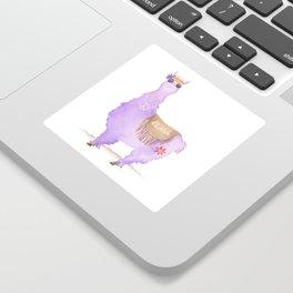 Hippie Llama Sticker