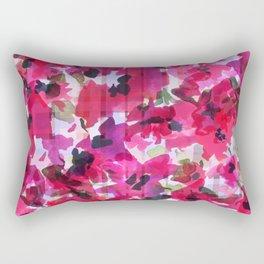 Red Poppy Plaid Rectangular Pillow