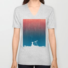 Meteor Rain (light version) Unisex V-Neck